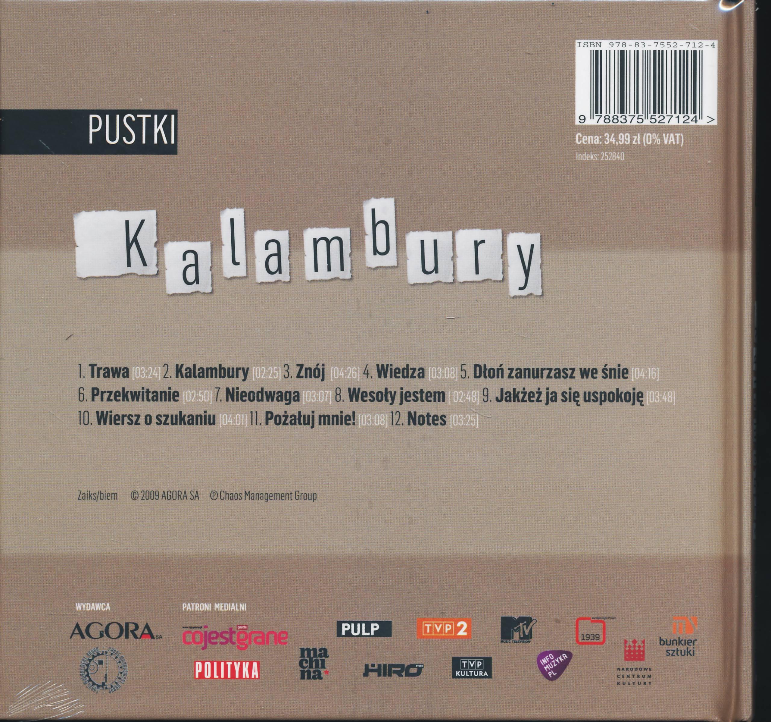 Pustki Kalambury Książkacd 7414341822 Oficjalne