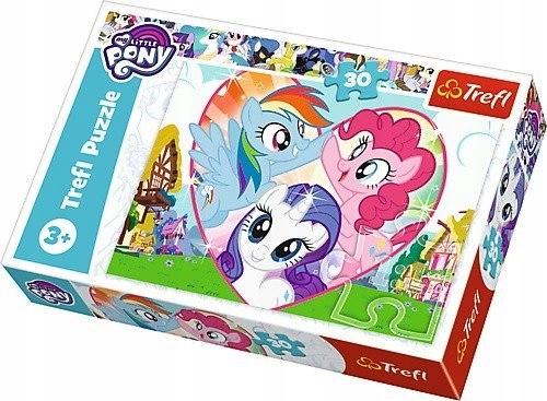 Puzzle 30 elementów - My Little Pony, Razem lepiej
