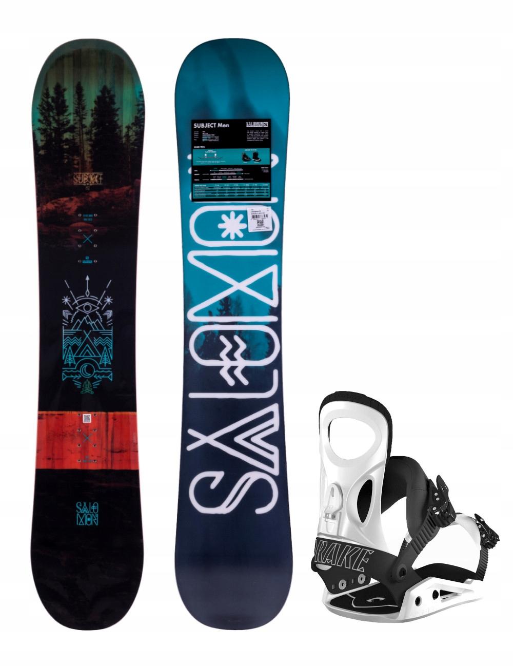 Zestaw Snowboard Salomon Subject 159 + Drake King