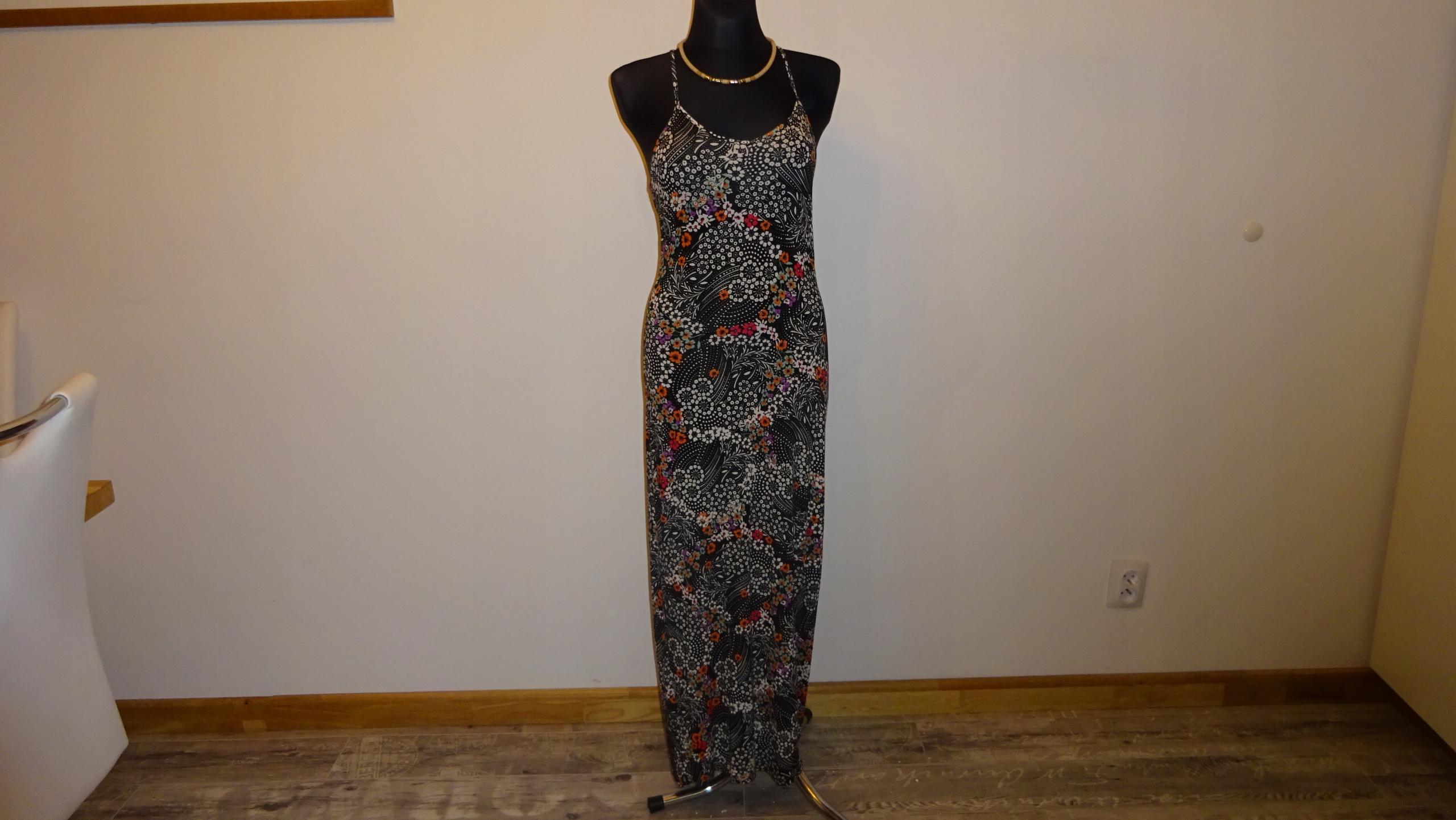 ATMOSPHERE sukienka maxi ideał wiskoza 100% S/L