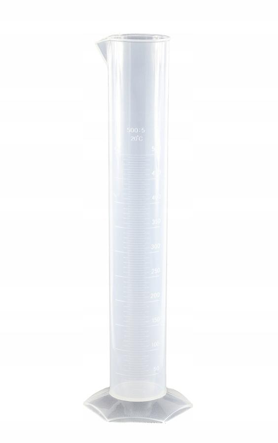 Cylinder miarowy PP 500 ml skala tłoczona Menzurka