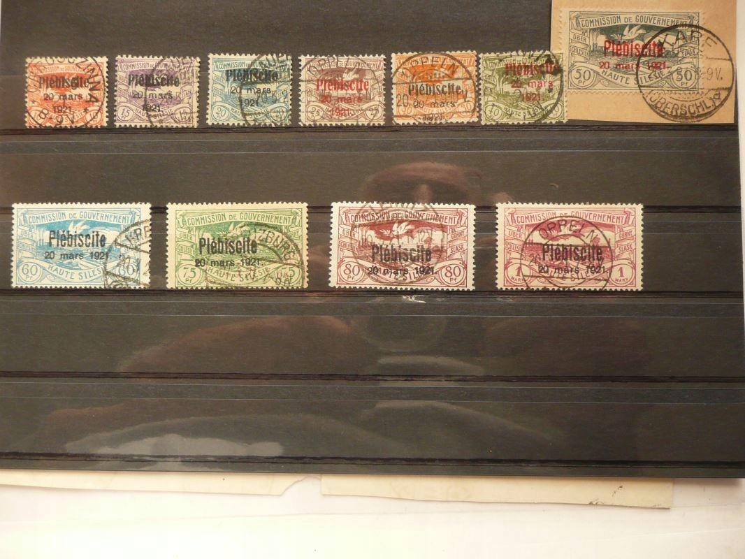 zestaw znaczków Plebiscyt Śląsk