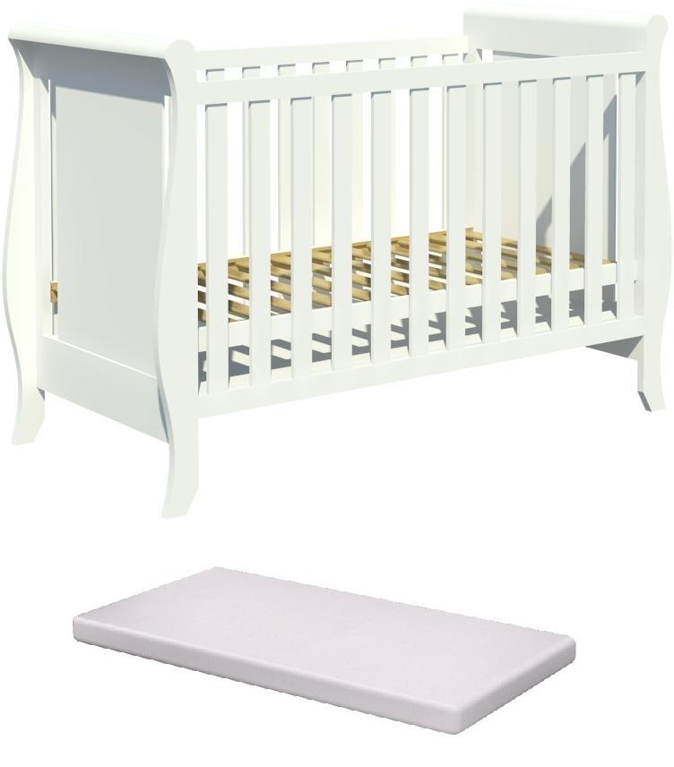 Łóżeczko dziecięce MISZA 120x60cm +materac pianka