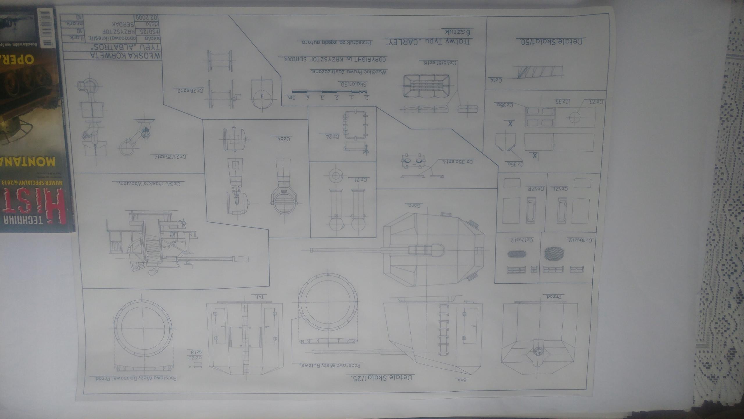 Korweta ALBATROS arkusz nr 10 plan detali.