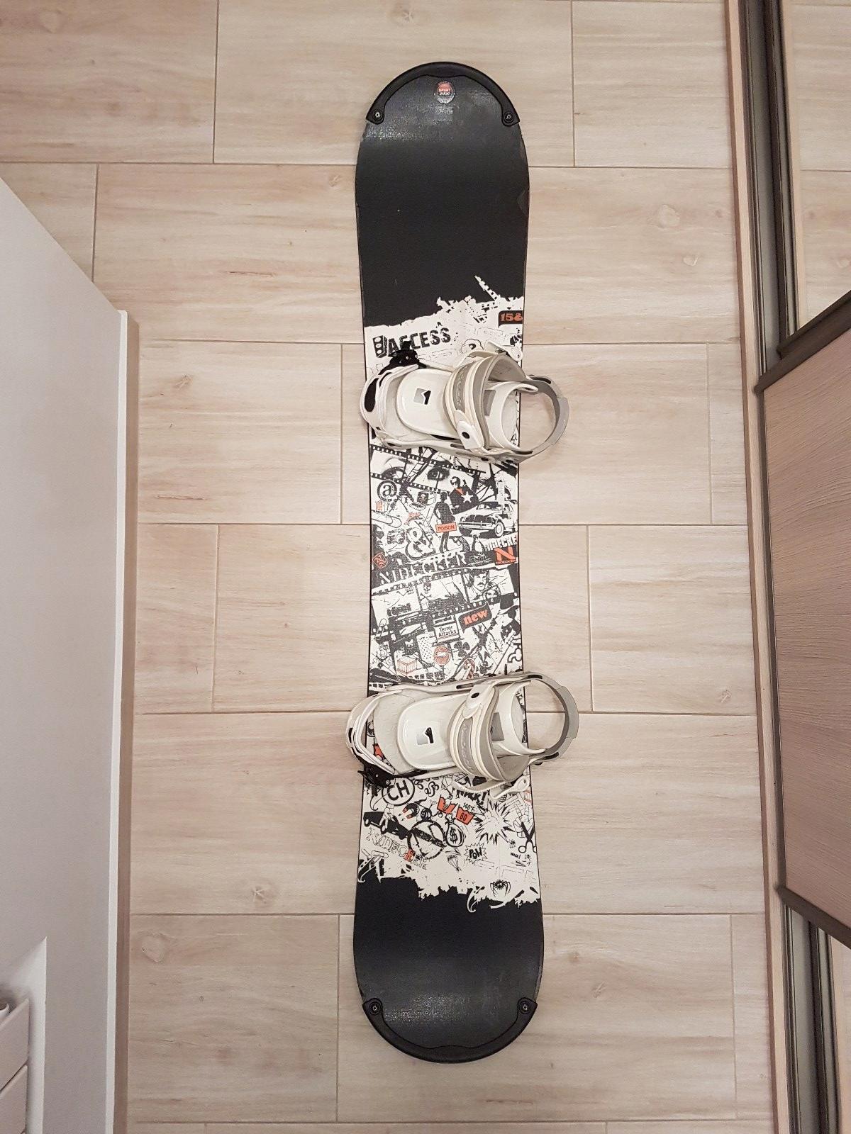 Deska, wiązania, nowe buty RAVEN 43,5 + pokrowiec