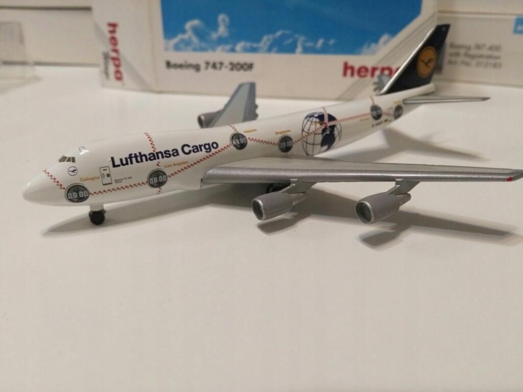 Model samolotu Boeing 747 Lufthansa Ca 1-500 Herpa