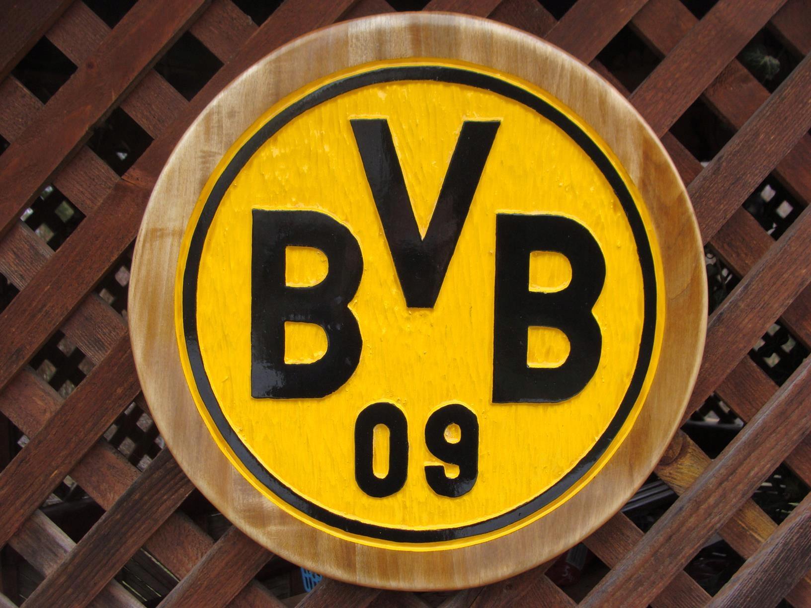 BVB Borussia Dortmund Ręcznie rzeźbiony w drewnie!