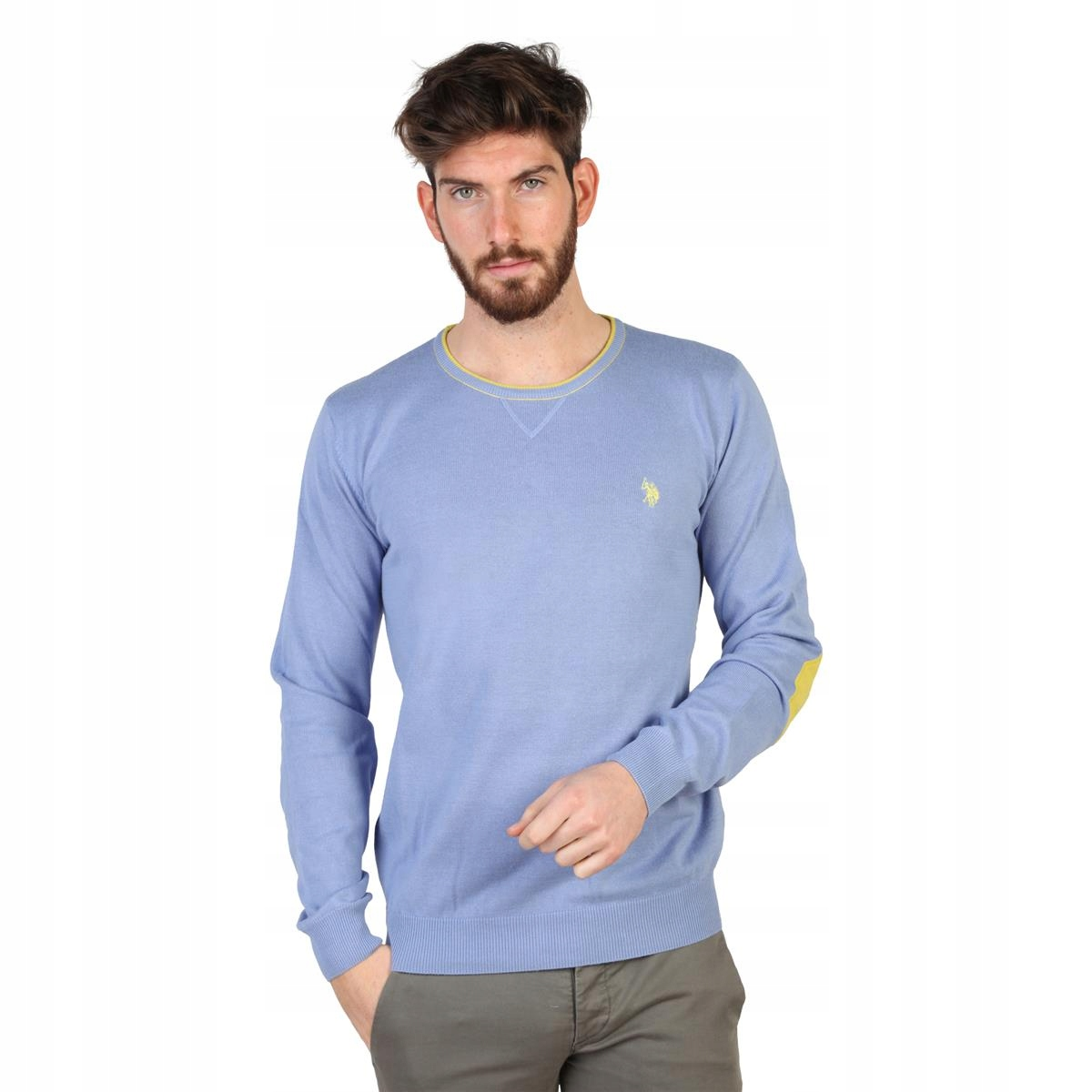 U.S.Polo ASSN niebieski sweter męski roz XXL