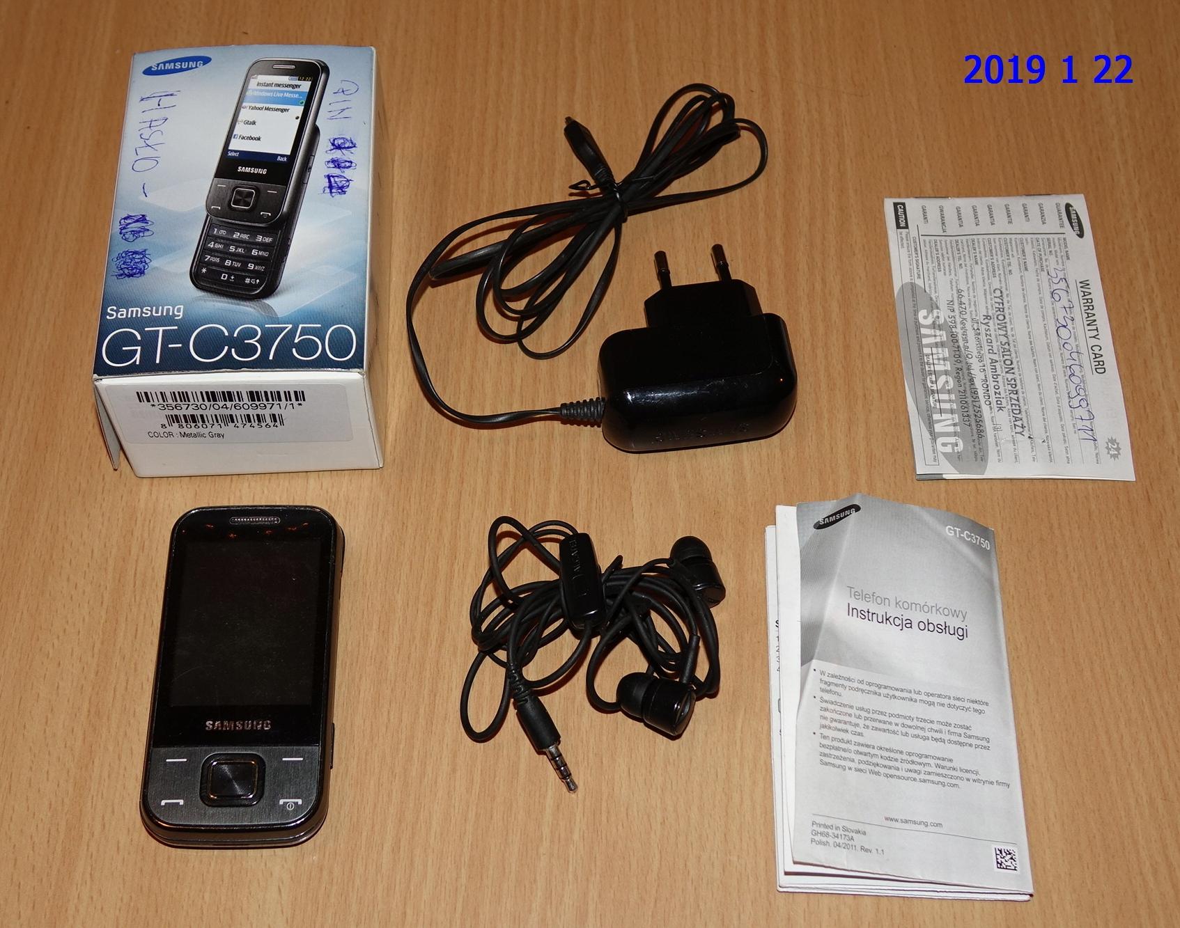 telefon GSM - SAMSUNG - GT-C3750 - KOMPLET