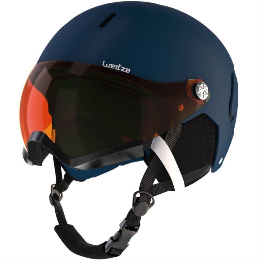 KASK Narciarski / Snowboard z SZYBĄ 2w1 - L