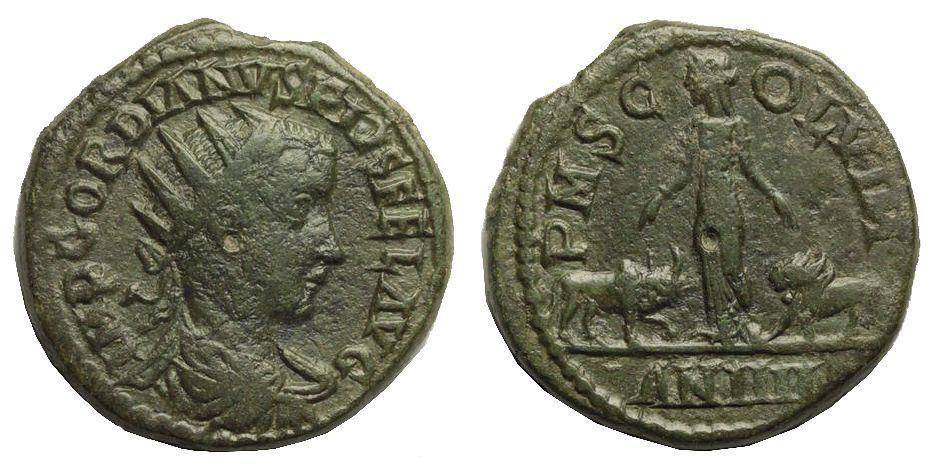 GORDIANUS III - PIĘKNY DUPONDIUS H/J 15 - BCM!
