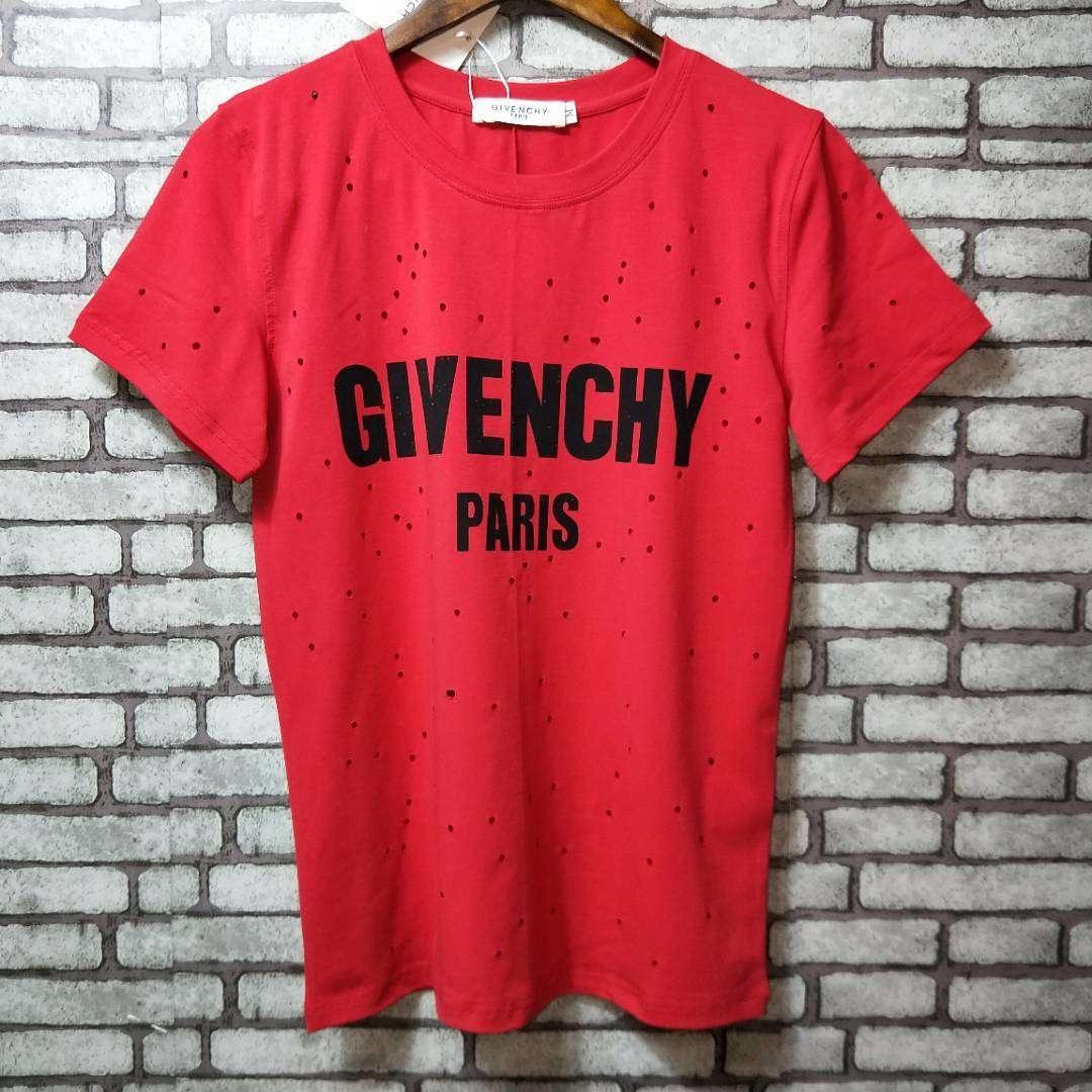 Wszystkie nowe Koszulka Tshirt Givenchy nowa z metką L czerwona - 7475490587 OI35