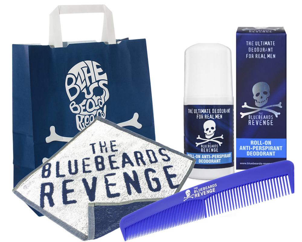 BLUEBEARDS Zestaw Ręcznik Grzebień Dezodorant