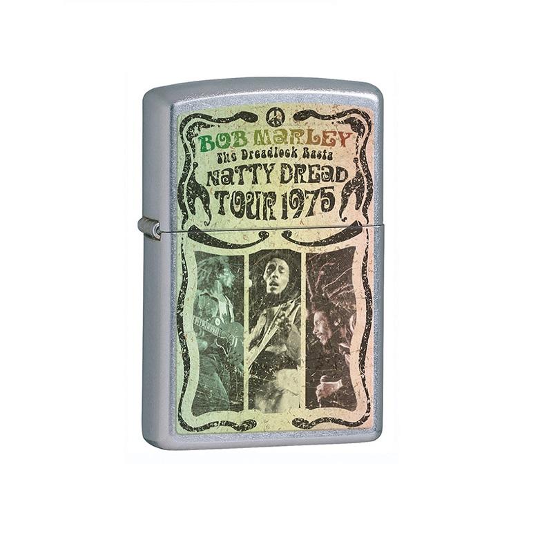 ZIPPO Bob Marley 1975 Tour + Twój Grawer