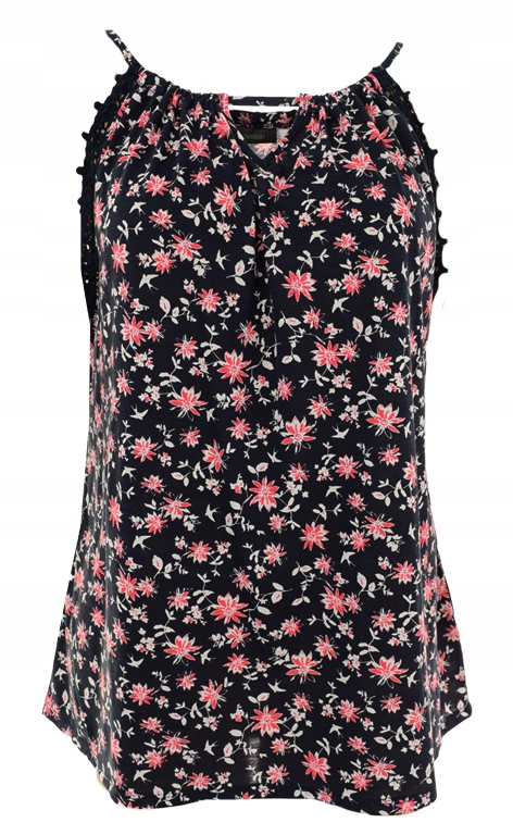 lLL1882 C&A bluzka w kwiaty bez rękawów 50/52