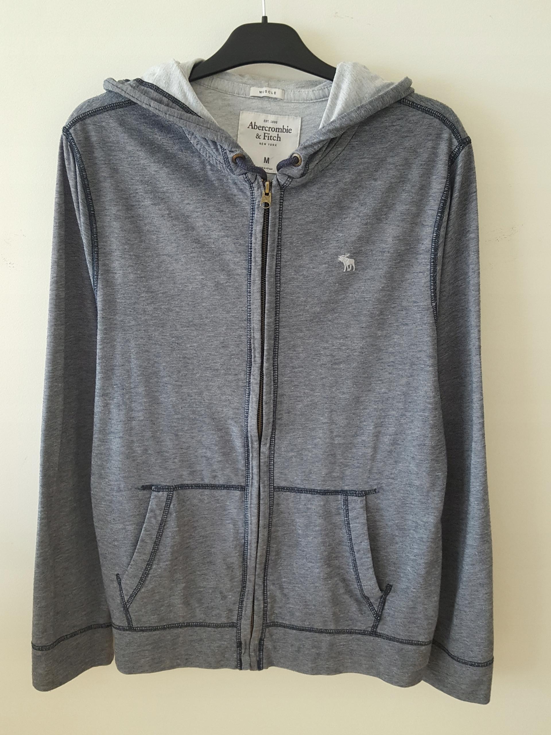 Bluza męska szara Abercrombie&Fitch r. M