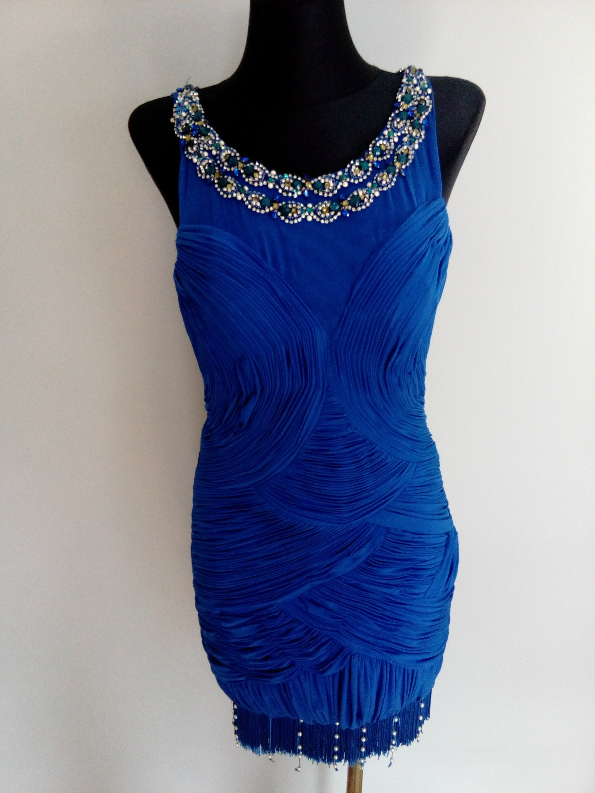 5240df1b45 Sukienka szafirowa niebieska z kamieniami - 7394003426 - oficjalne ...