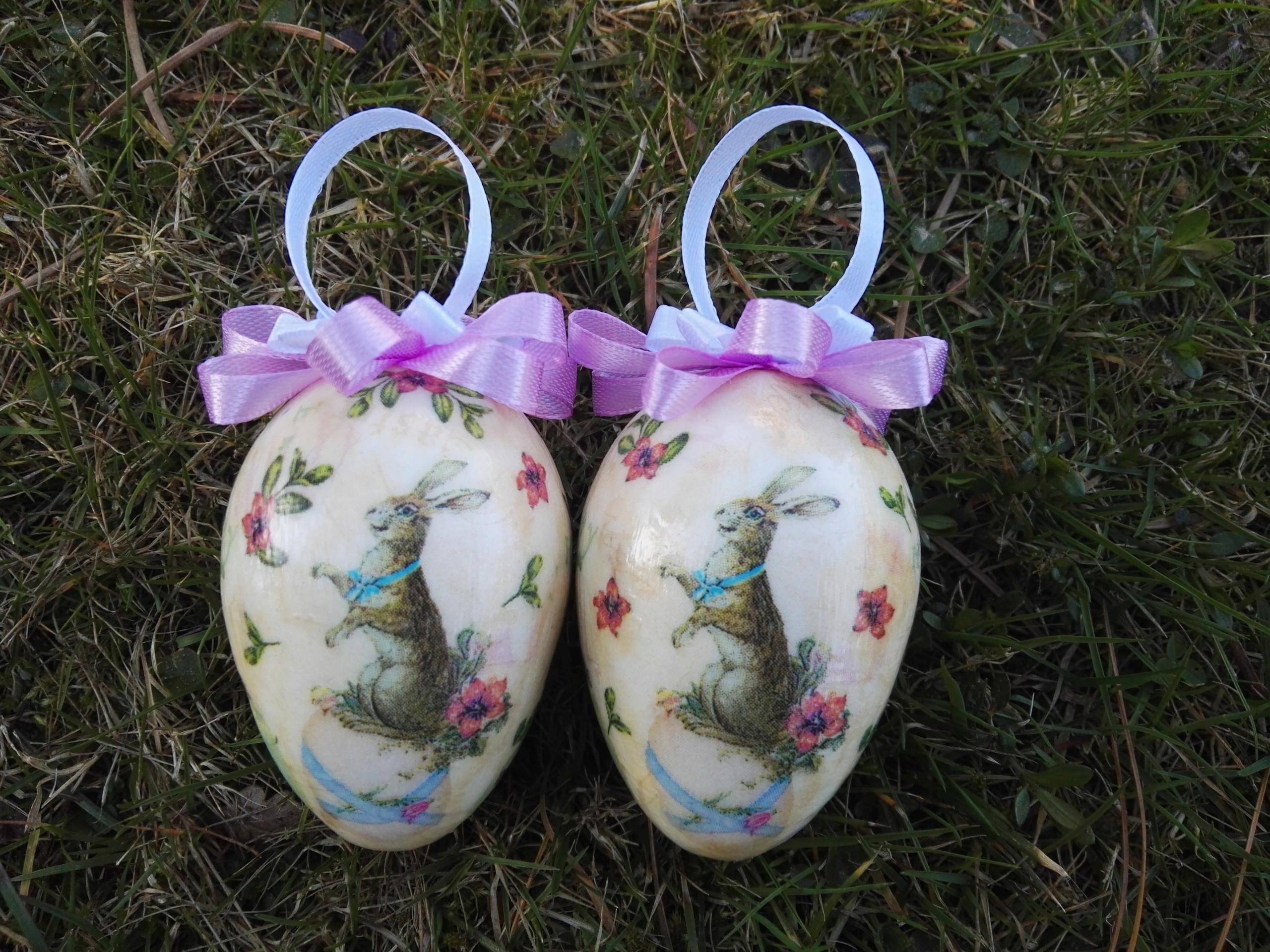 JAJKA,PISANKI DECOUPAGE 7cm,zajączki,Wielkanoc