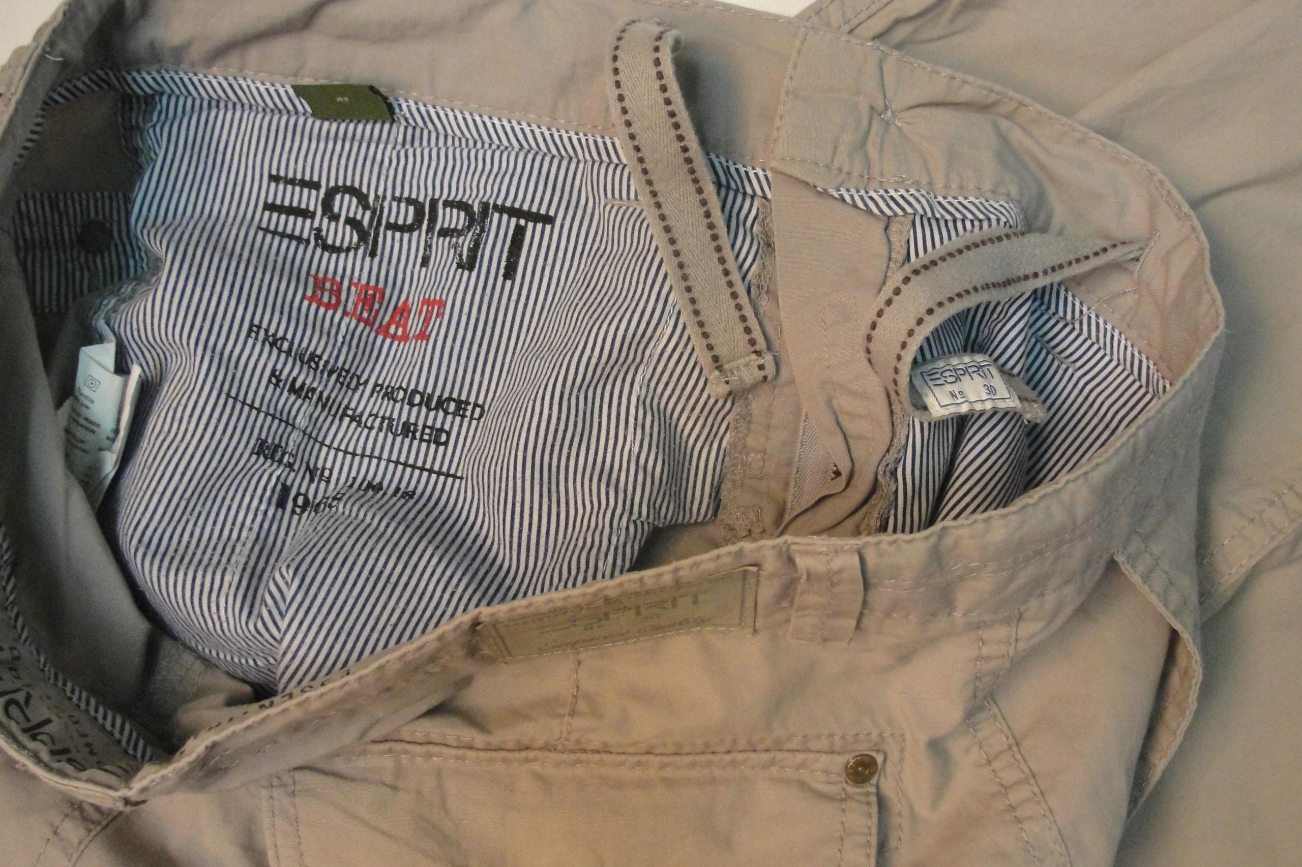 ESPRIT 33/32 cieńsze spodnie pas- 90 cm