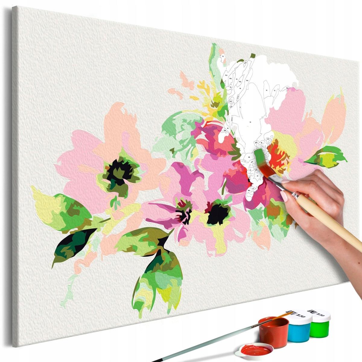 Obraz do samodzielnego malowania - Kolorowe kwiatk