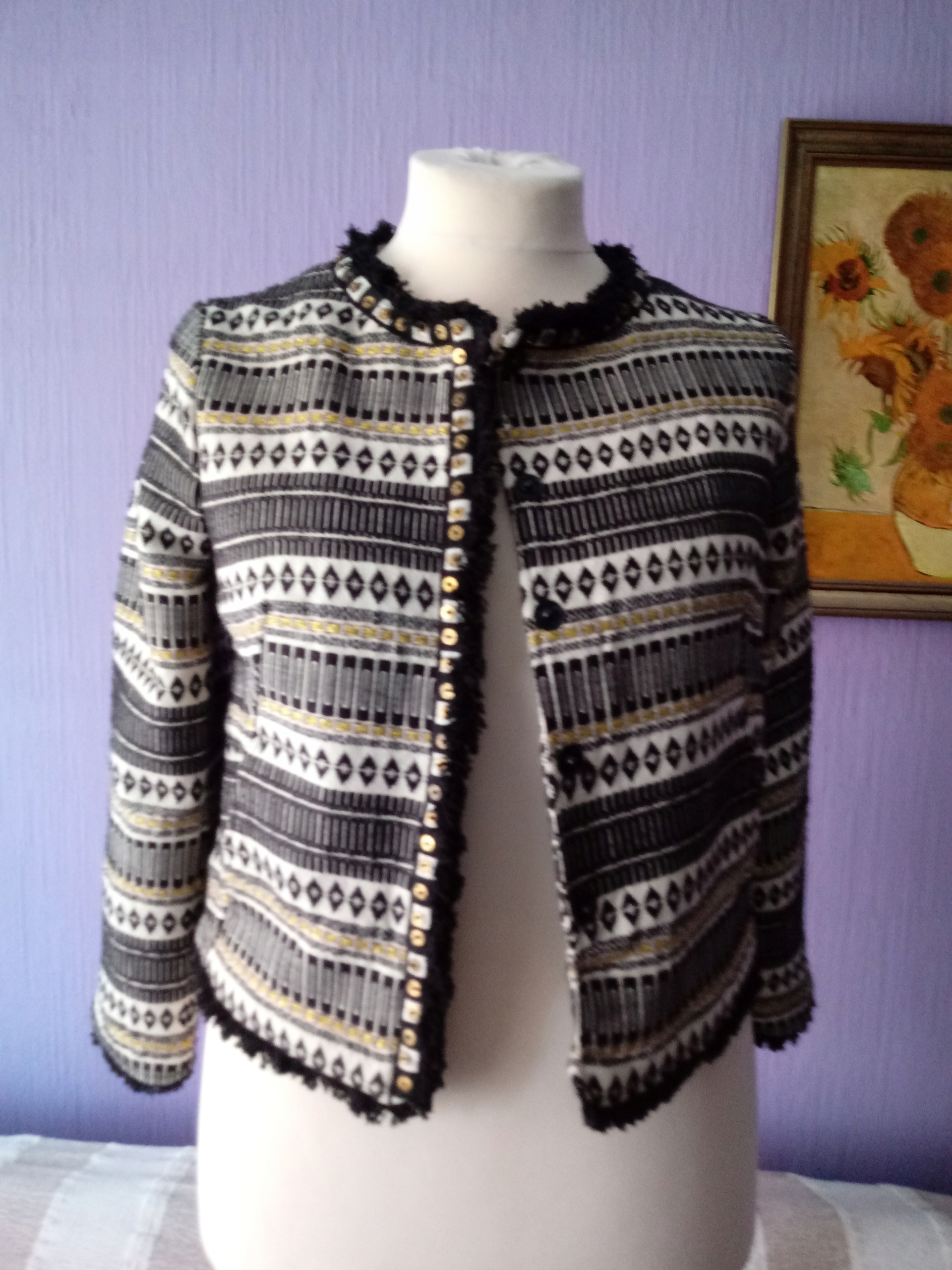 Żakiet Marks&Spencer bawełna azteckie wzory 38