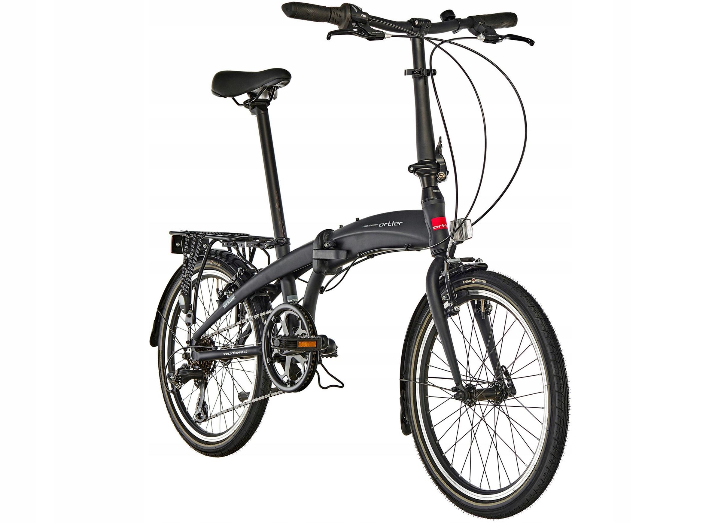 ORTLER LONDON ONE rower składany czarny