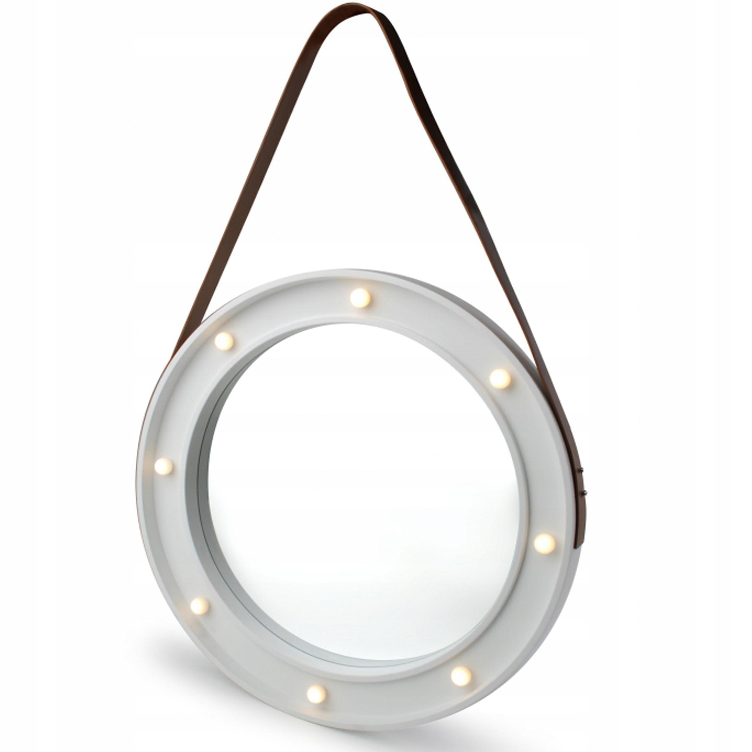 Okrągłe Lustro Z Oświetleniem Led Na Linie Pasku