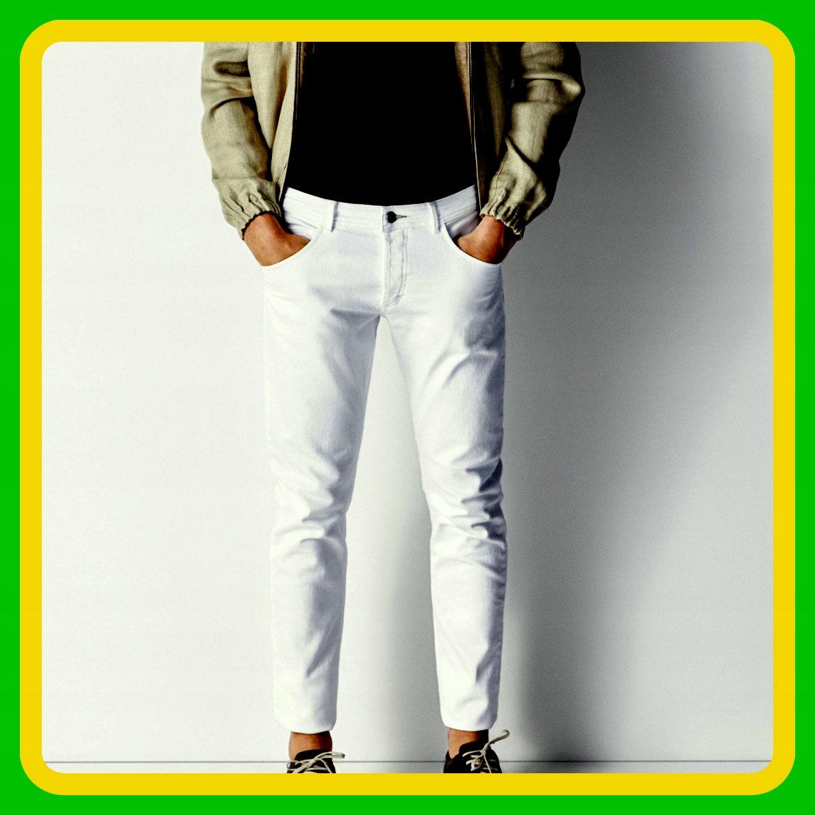 Massimo Dutti True white Białe Slim Jeans Spodnie