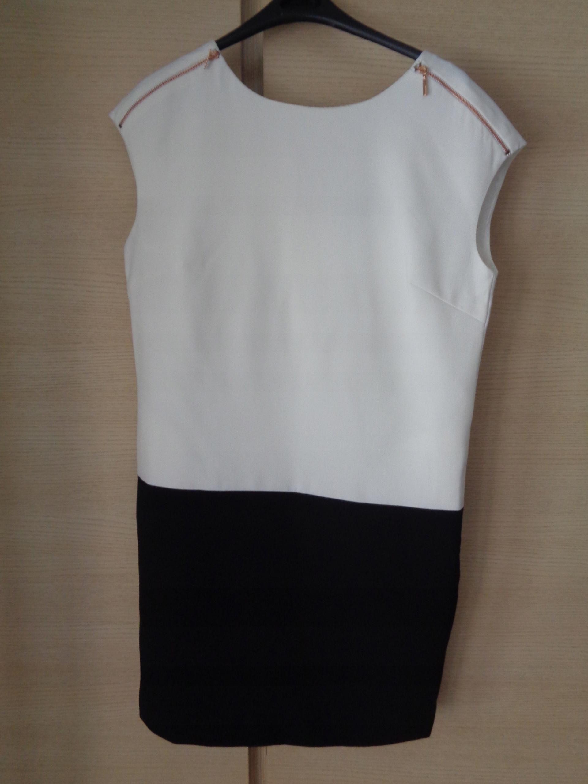 Sukienka biało-czarna RESERVED r. 38 M uniwersalna