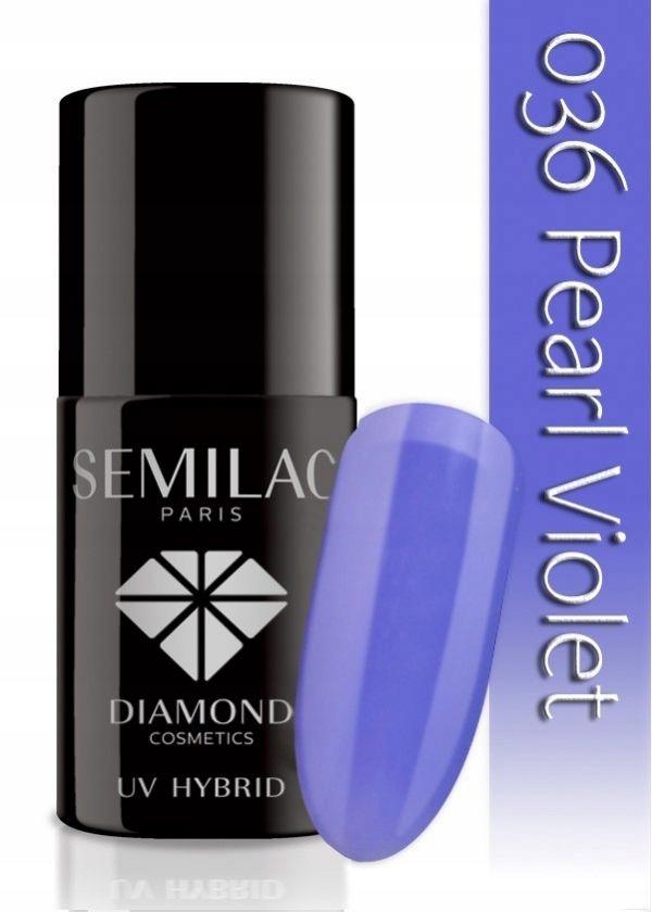 Semilac UV Hybrid 036 Pearl Violet lakier hybrydow