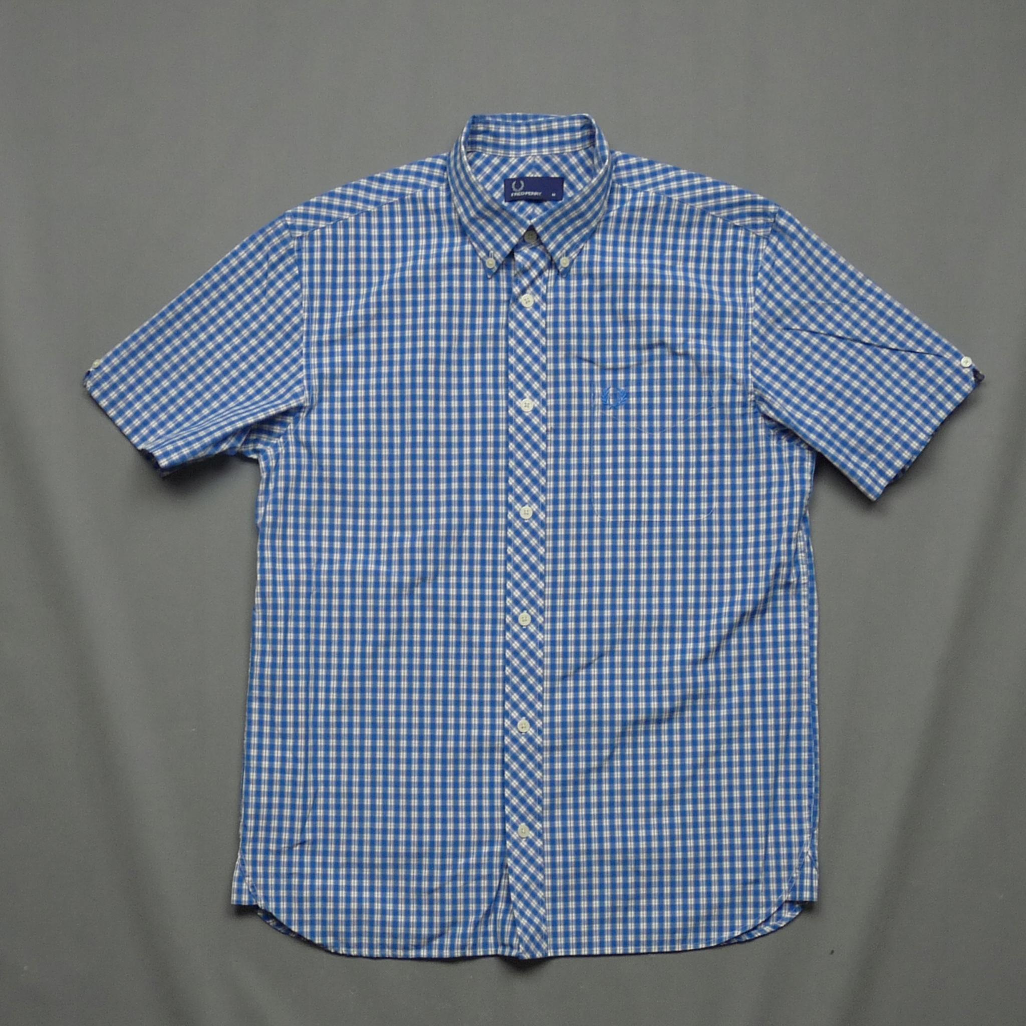 FRED PERRY bawełniana koszula w kratkę jak nowa M