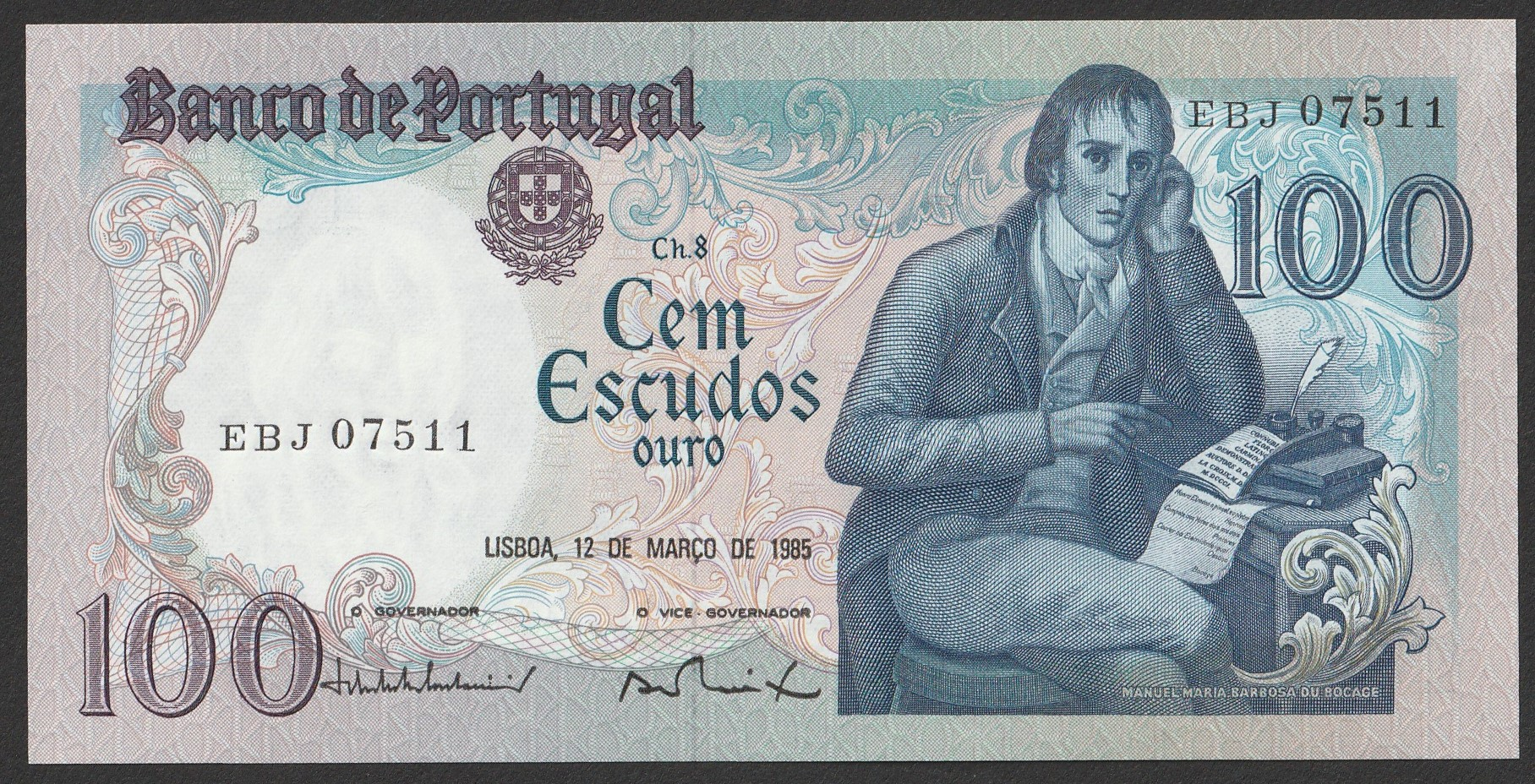 Portugalia - 100 escudos - 1985 - stan UNC