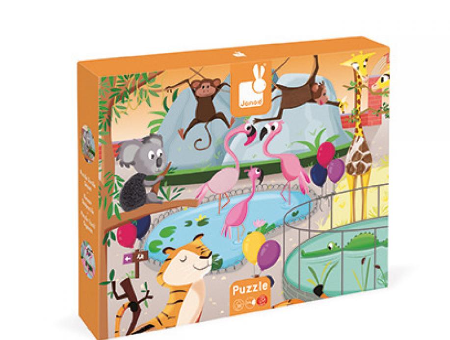 Janod Puzzle sensoryczne 20 el. Wycieczka do zoo