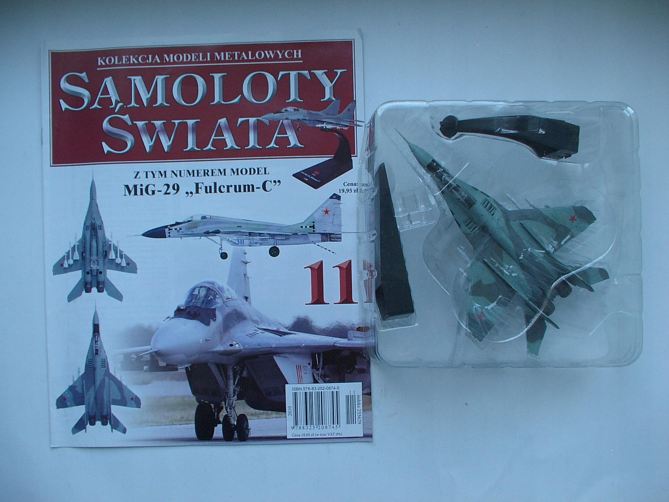 "MiG-29 ""Fulcrum-C"" (skala 1 : 100) Nr 11"