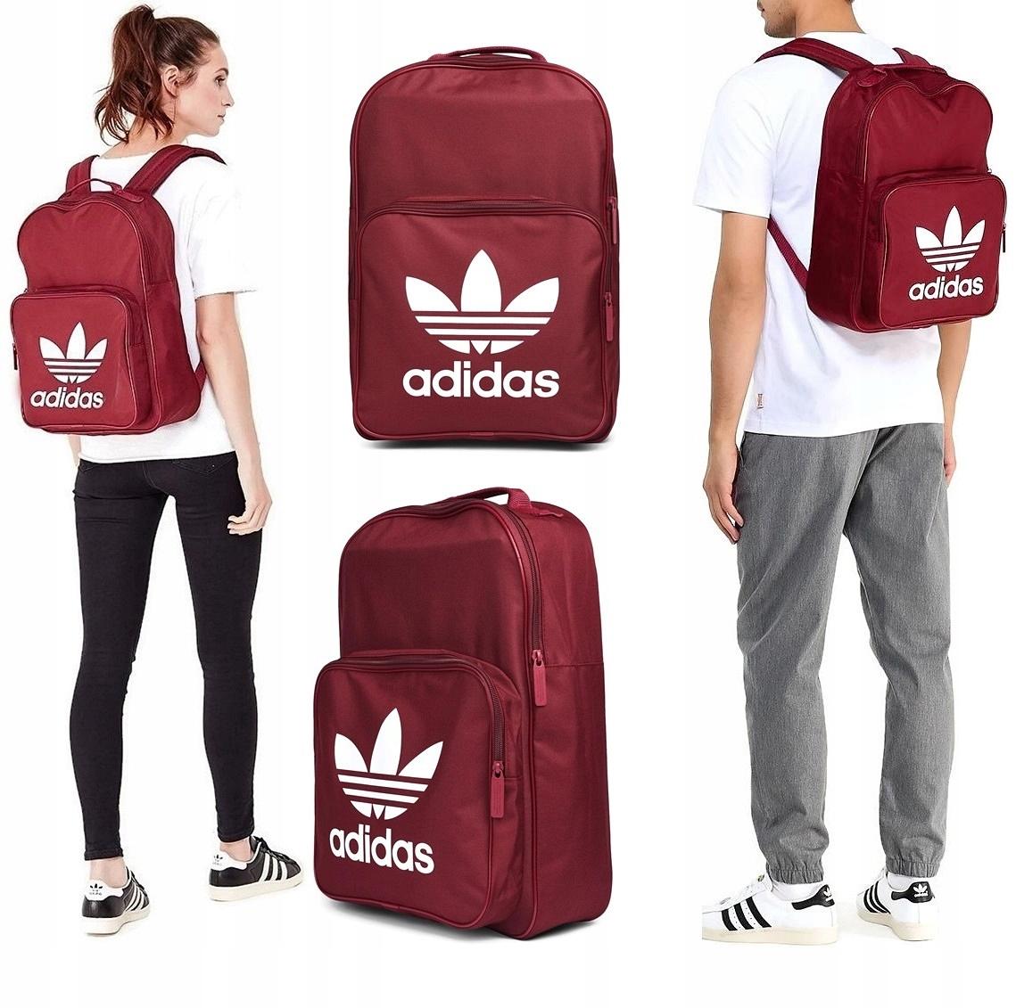 wyprzedaż ze zniżką miło tanio sprzedaż uk Plecak Adidas Originals BP7303 Szkolny Bordo sport ...