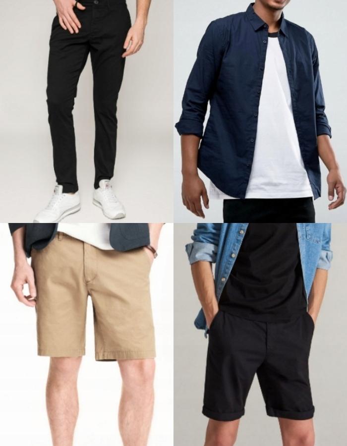 ZESTAW Męskie Spodenki + Spodnie + Koszula (M)