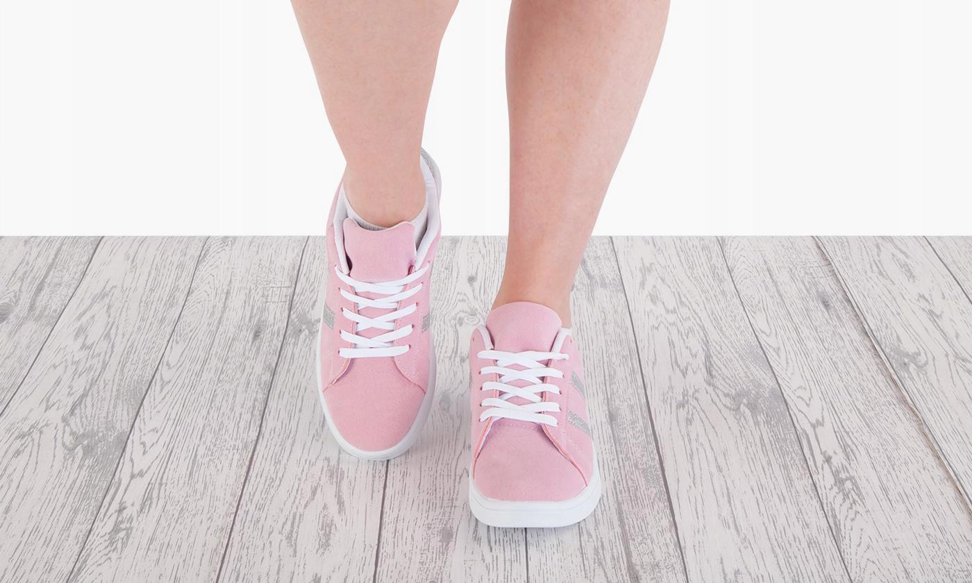 Buty Tenisówki Sportowe Damskie Różowe 39