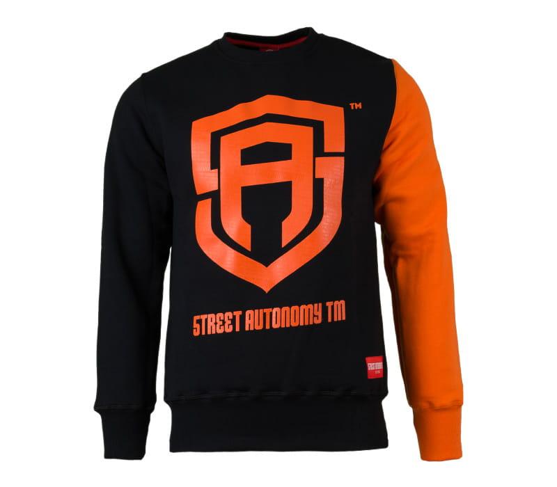 Bluza bez kaptura Street Autonomy black/orange -M