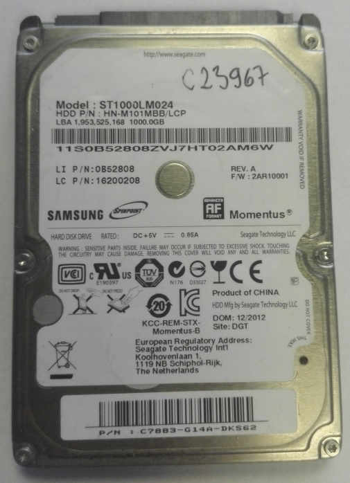 Dysk TWARDY HDD Samsung 1000GB ST1000LM024 2.5''