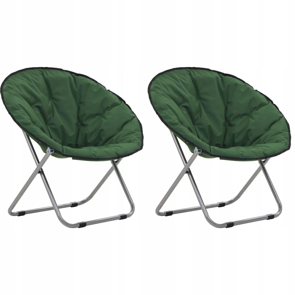 Składane krzesła, 2 szt., okrągłe, zielone GXP-683
