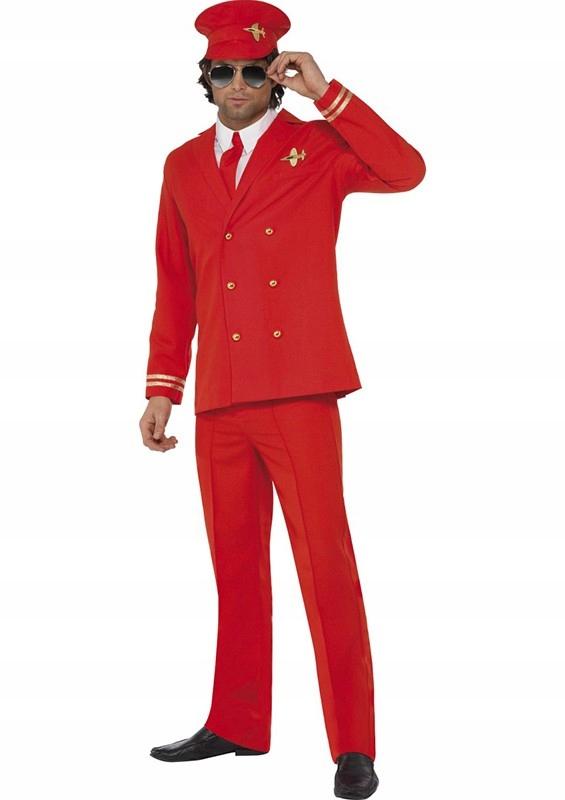 *983 kostium strój KAPITAN PILOT marynarka L