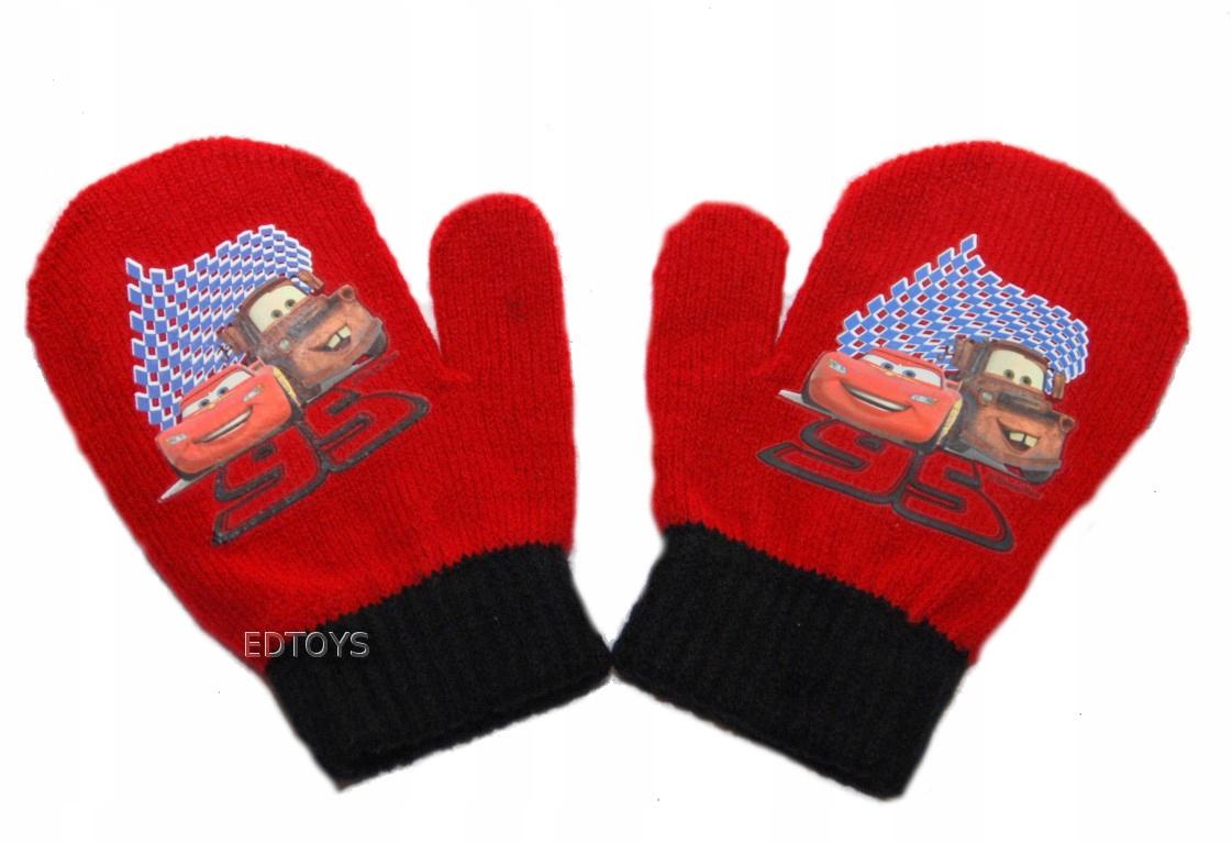 Rękawiczki zimowe akryl Disney 2palce 2-4l AUTA 40