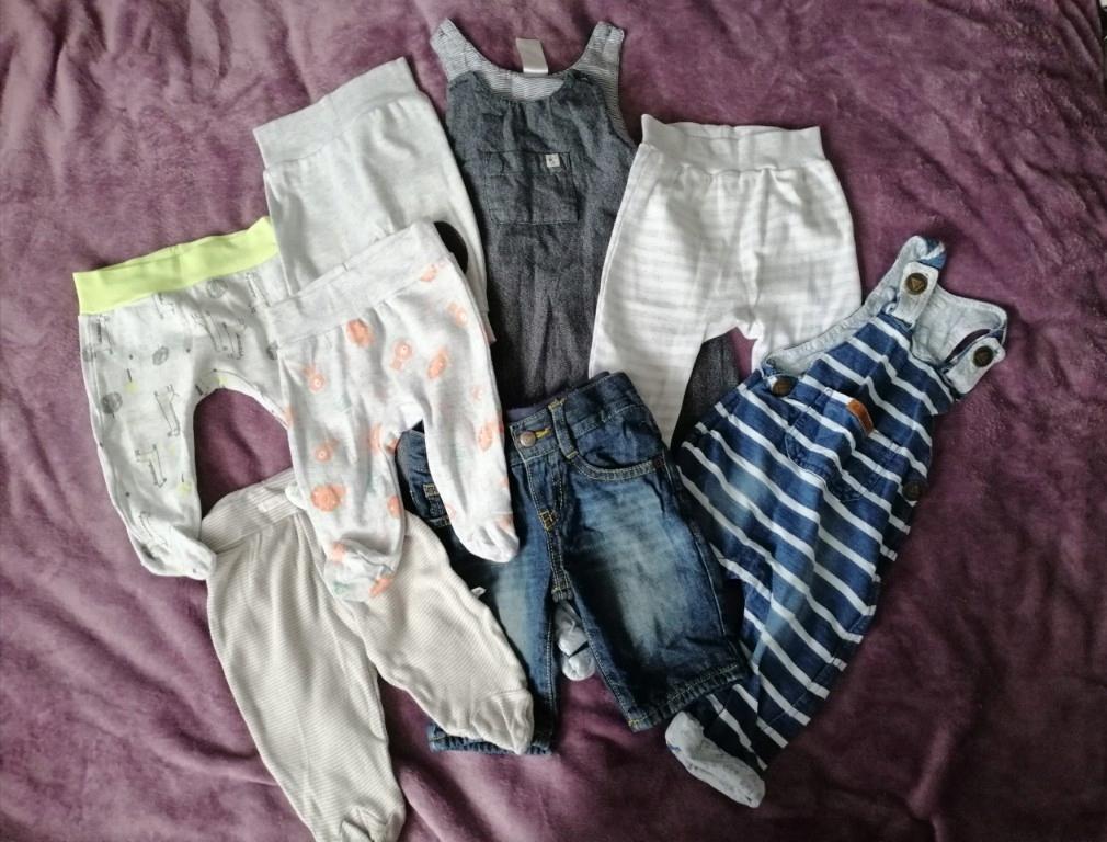 spodnie niemowlęce 8 szt