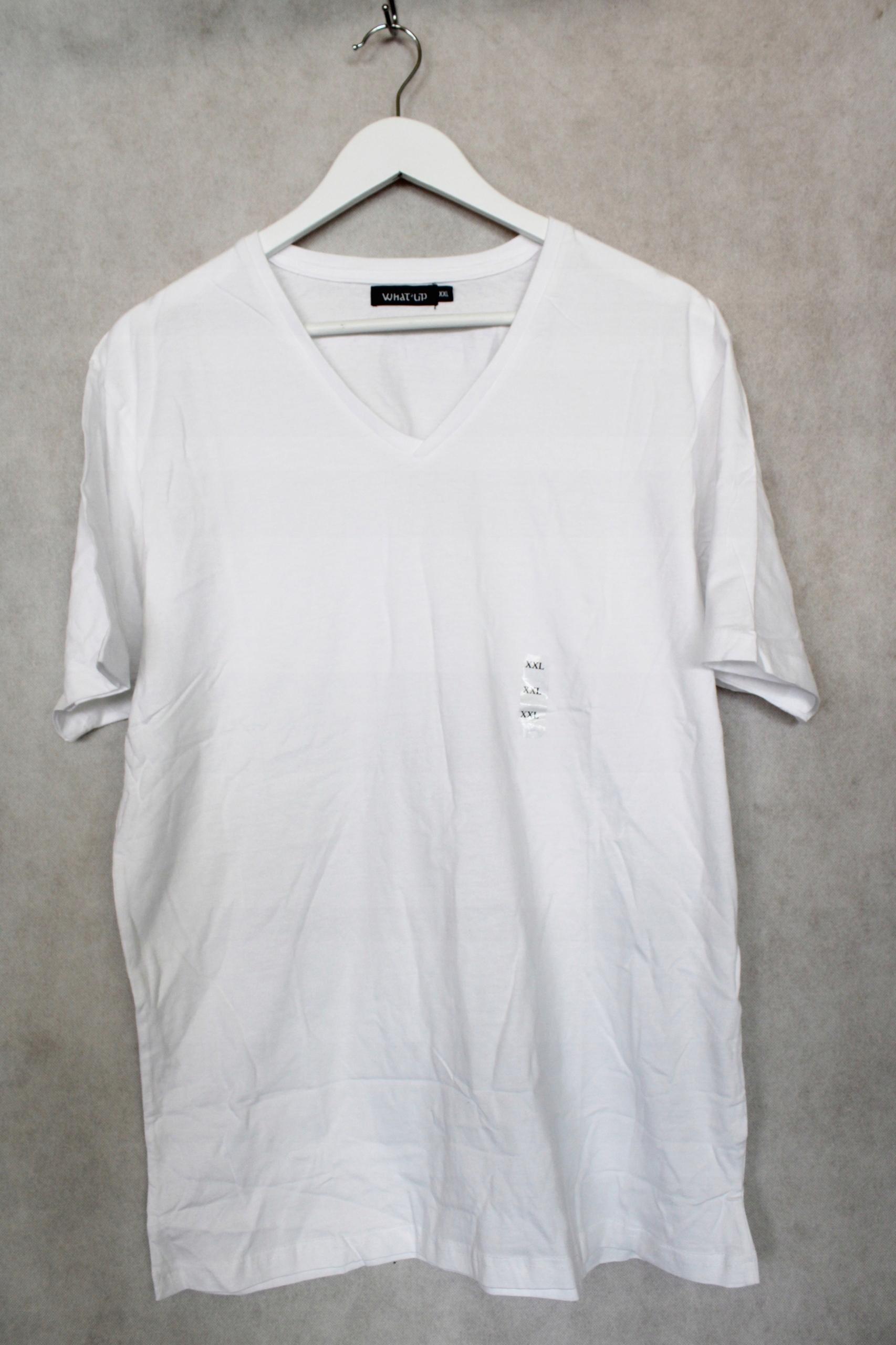 Koszulka t-shirt męski biały basic r. XXL nowy X9