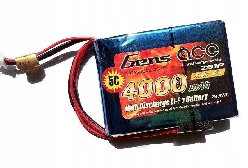4000mAh 7.4V 5C RX Gens Ace - odbiornikowy