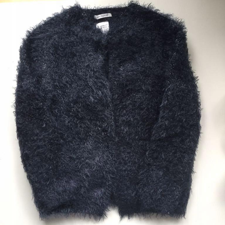 Sweter z mechatej włochatej dzianiny Zara 7 122