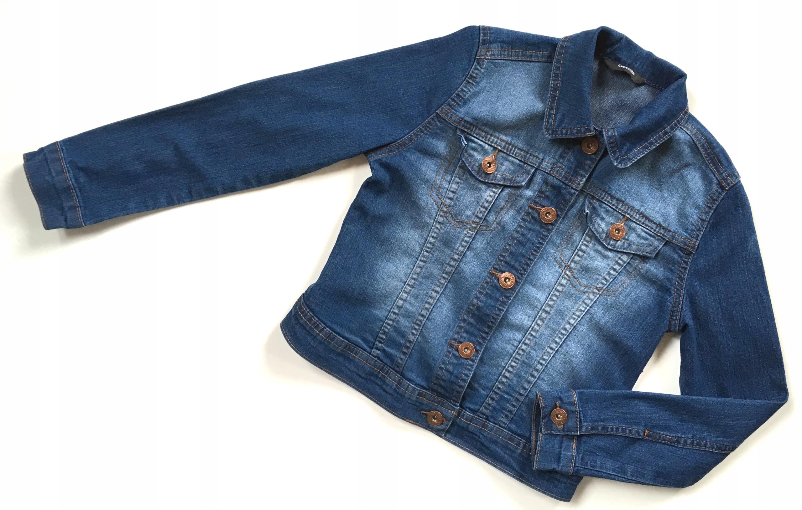 GEORGE kurtka jeans 122/128 7-8 lat