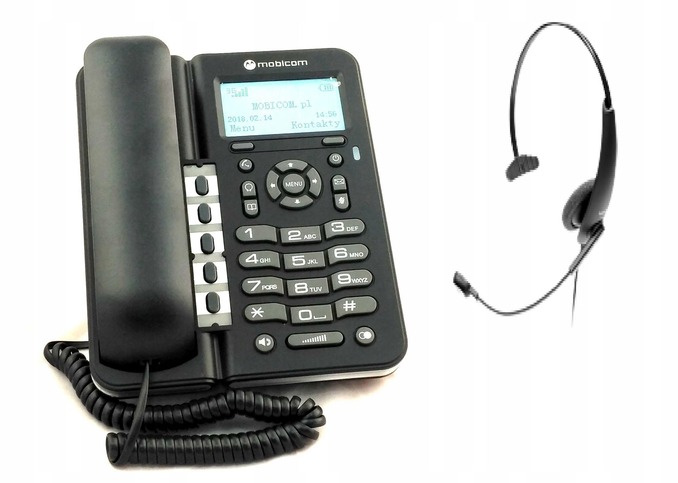 mobicom Zestaw Telefon GSM + Słuchawka Call center