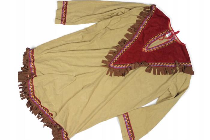 PRZEBRANIE indianka FRĘDZLE strój KARNAWAŁ r. 46