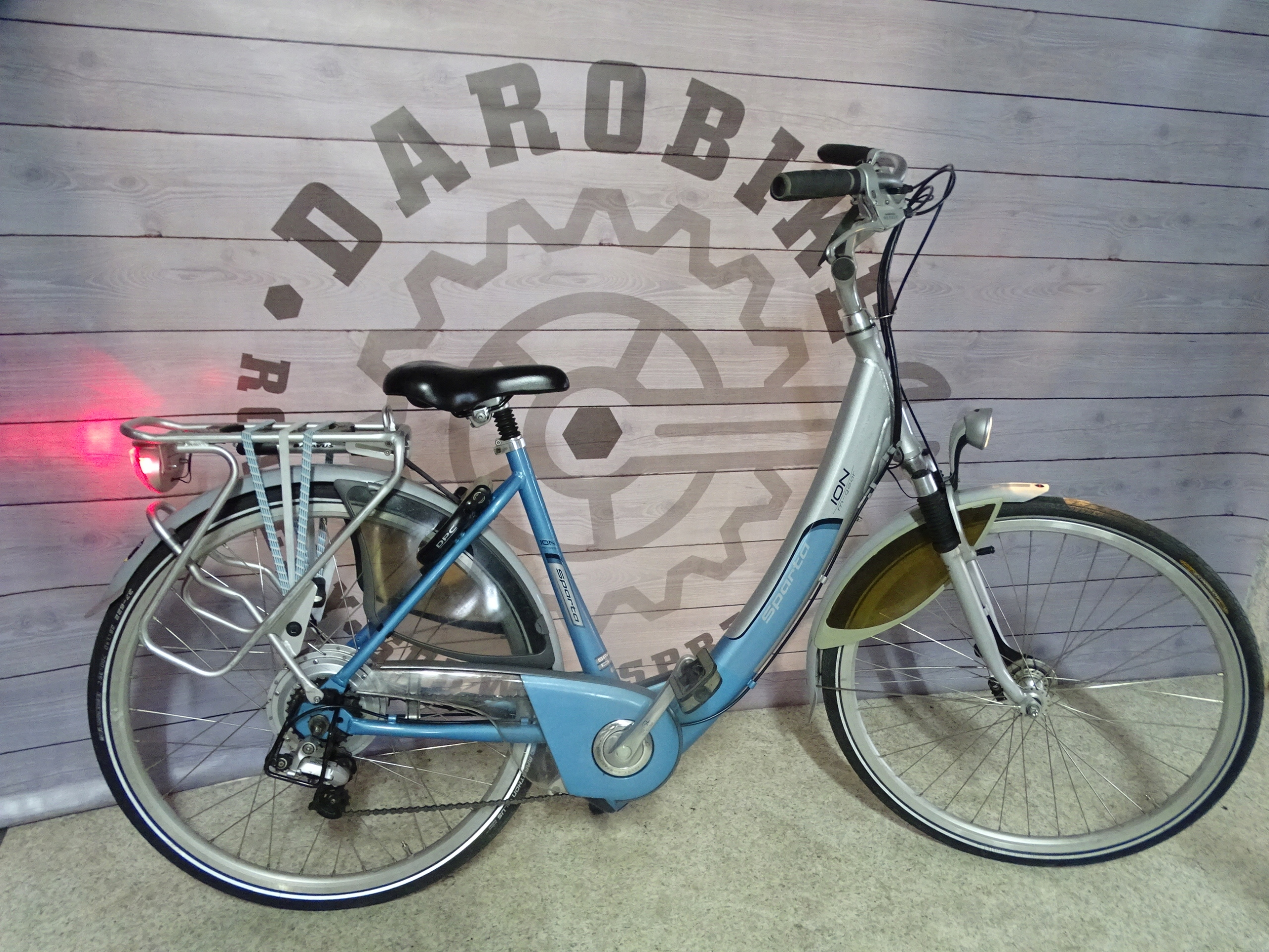 Rower elektryczny SPARTA szaro-niebieski